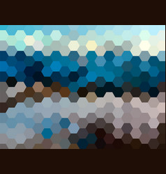 defocused hexagon landscape background vector image vector image
