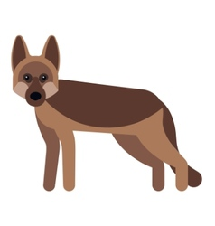 Dog flat icon vector