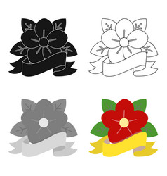 Flower tattoo emblem icon cartoon single tattoo vector