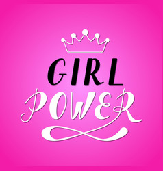Girl power lettering vector
