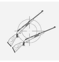 Guns and target rifle vector