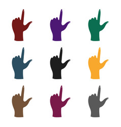 hand touch icon in black style isolated on white vector image