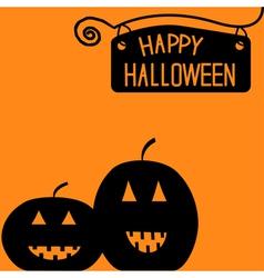 Happy Halloween pumpkin card vector image