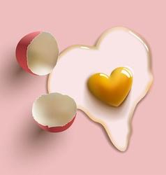 Heart shape egg vector