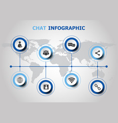 Infographic design with chat icons vector