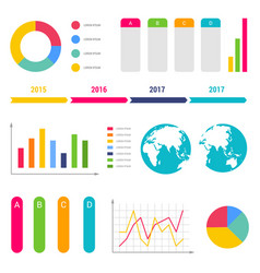 Infographic workflow diagrams timeline steps chart vector