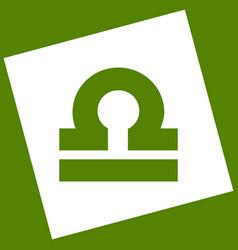 Libra sign white icon vector