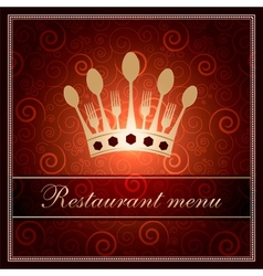 luxury template for a restaurant menu vector image vector image