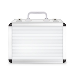 Metal suitcase vector