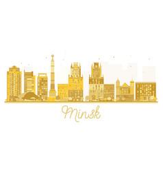 Minsk belarus skyline golden silhouette vector