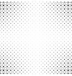 Monochrome abstract circle pattern background - vector