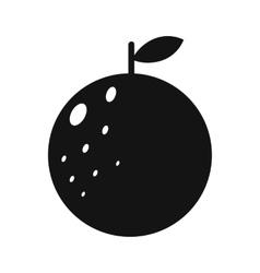 Orange simple icon vector image vector image