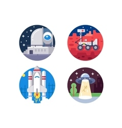 Pixel perfect space icons set vector