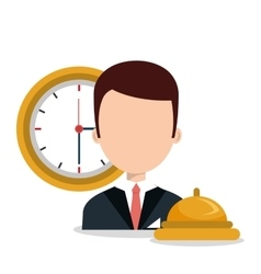 receptionist hotel service isolated icon vector image vector image