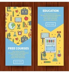 School banners templates vector