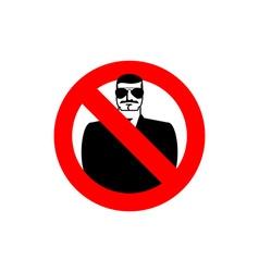 Stop spy Forbidden secret agent Frozen man in vector image