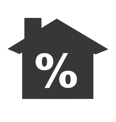 House silhouette percent symbol with icon vector