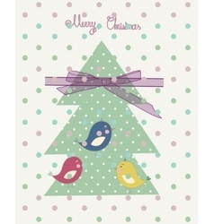 Vintage scrap booking template for merry christmas vector
