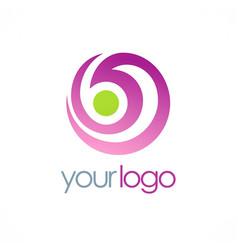 Round swirl abstract beauty logo vector