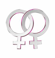 Female and female symbols union vector