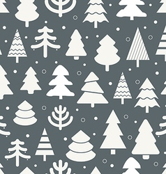 Abstract christmas trees seamless background vector