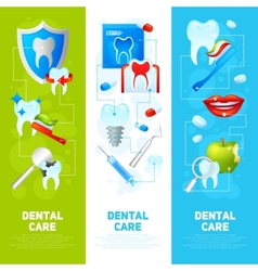 Dental banner set vector