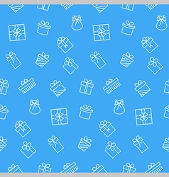 Present seamless pattern background vector