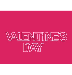 Valentines day text design element vector