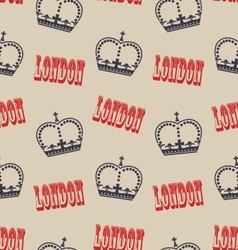 Old seamless texture of crown of queen retro vector