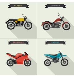 Motorcycles set vector