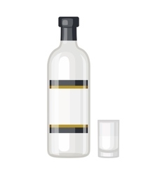 Vodka bottle vector