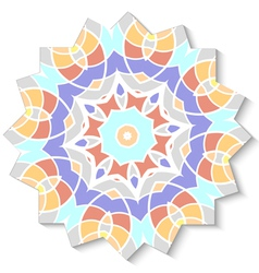 Abstract mosaic design element vector image