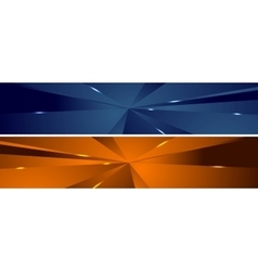 Abstract tech polygonal headers design vector