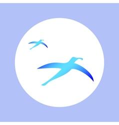 Albatrosses in circle vector