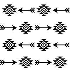 Aztec seamless pattern with arrows indian vector