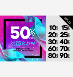 bright sale template vector image vector image