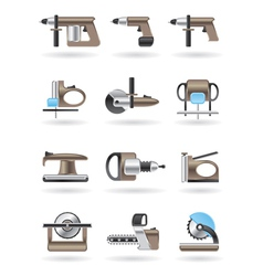 Building and furniture power tools vector image vector image