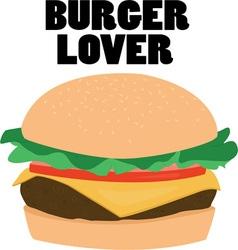 Burger lover vector