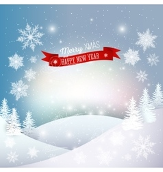 Christmas greeting card Merry Xmas and happy New vector image vector image