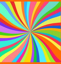 Colorful rays kaleidoscope vector