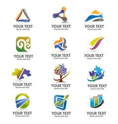 Creative 12 logo set vector