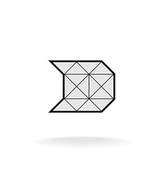 D letter logo templateConstruction framework vector image vector image