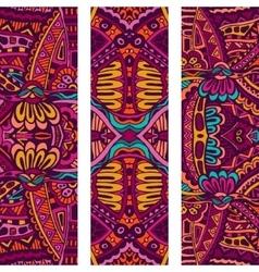 Festive Tribal colorful ornamental banner vector image vector image