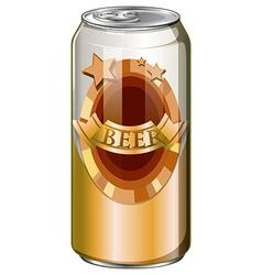 Fresh beer in aluminum can vector image