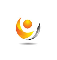 Glossy abstract crescent vector