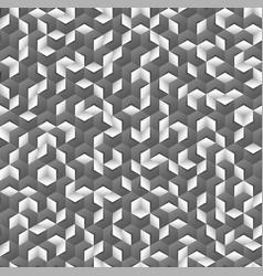Grayscale hexagonal seamless pattern vector
