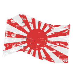Grunge japanese flag vector