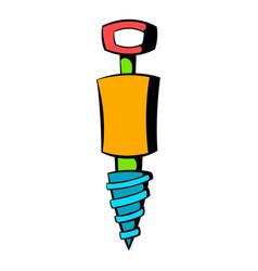 jackhammer icon icon cartoon vector image vector image