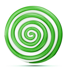 lollipop isolated green sweet candy round vector image