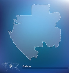 Map of Gabon vector image vector image